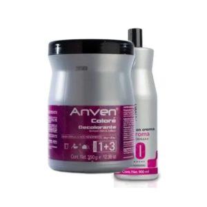 Decolorante Clásico 350gr + Peróxido Anven