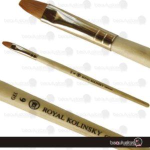 Pincel Royal Kolinsky Nylon Gel # 6 GEL-6