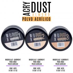 Acrílico Make Up Almond Punto Nails